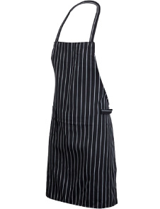 Full striped apron