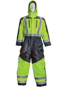 Premium cold weather breathable coverall with thermal lining