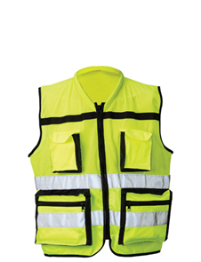 Jaguar solid and mesh HV managers vest