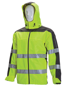 Premium Breathable HV rain jacket