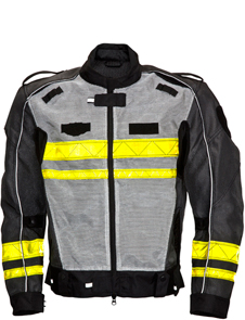Reflective Mesh Motorbike Jacket with protective pads